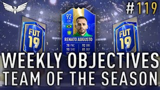 *LIVE* FUT SWAP ICON PACKS!!! TOTS Weekly Objective Grind - FIFA 19 RTG #119