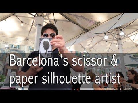 Barcelona's scissor and paper silhouette artist