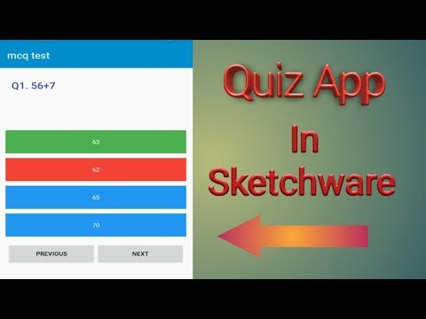 Make a mcq or quiz test app in sketchware  Lighting Knowledge 