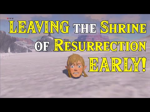 LEAVING Shrine of Resurrection EARLY! Just Another GLITCHED Day in Zelda Breath of the Wild