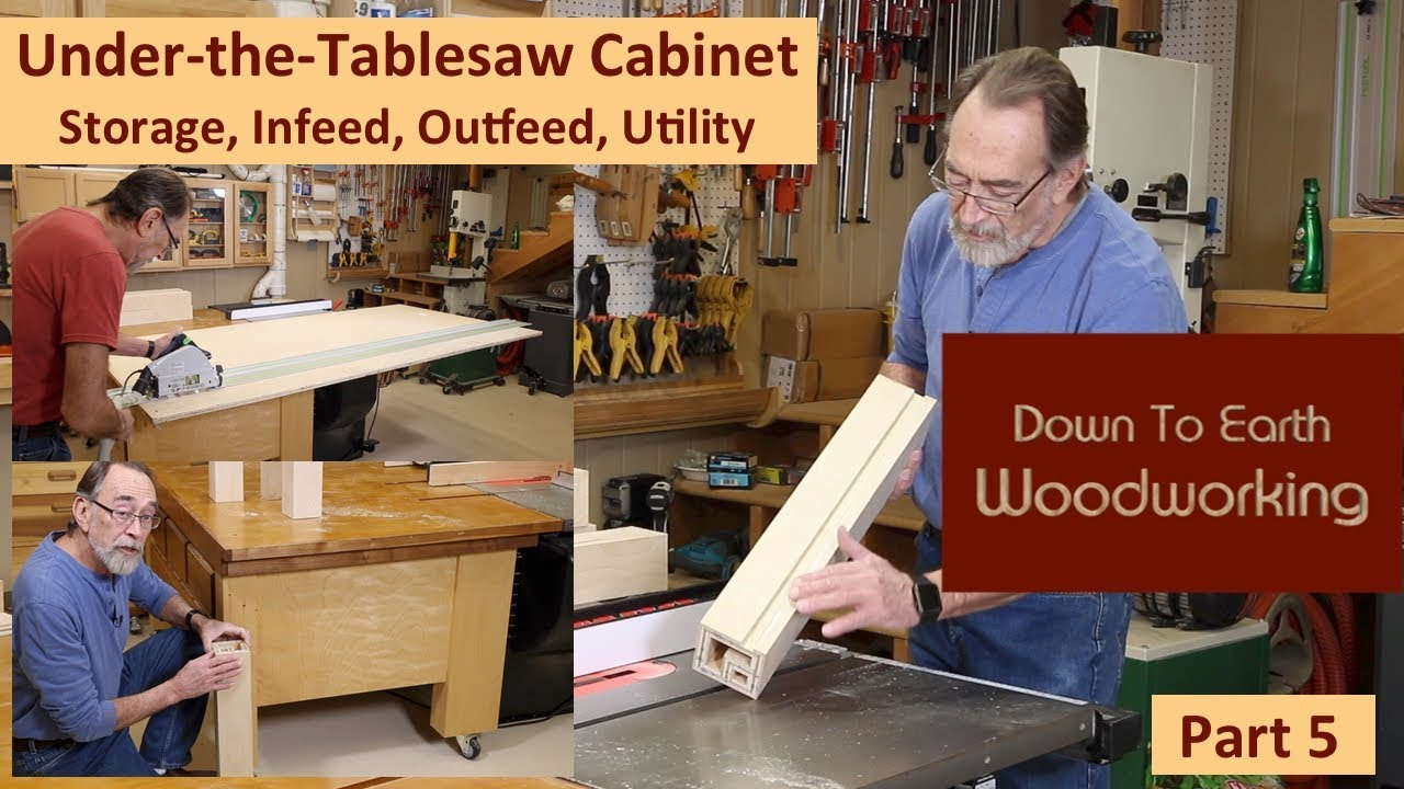 Under Table Saw Storage Cabinet Part 5 Youtube