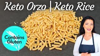 Keto Orzo Pasta  Keto Rice  Lupin Flour Recipe
