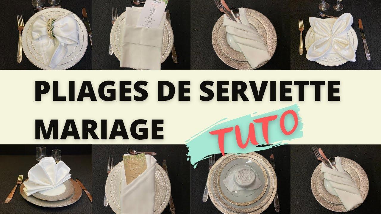 9 Pliages De Serviette Mariage Tuto Youtube