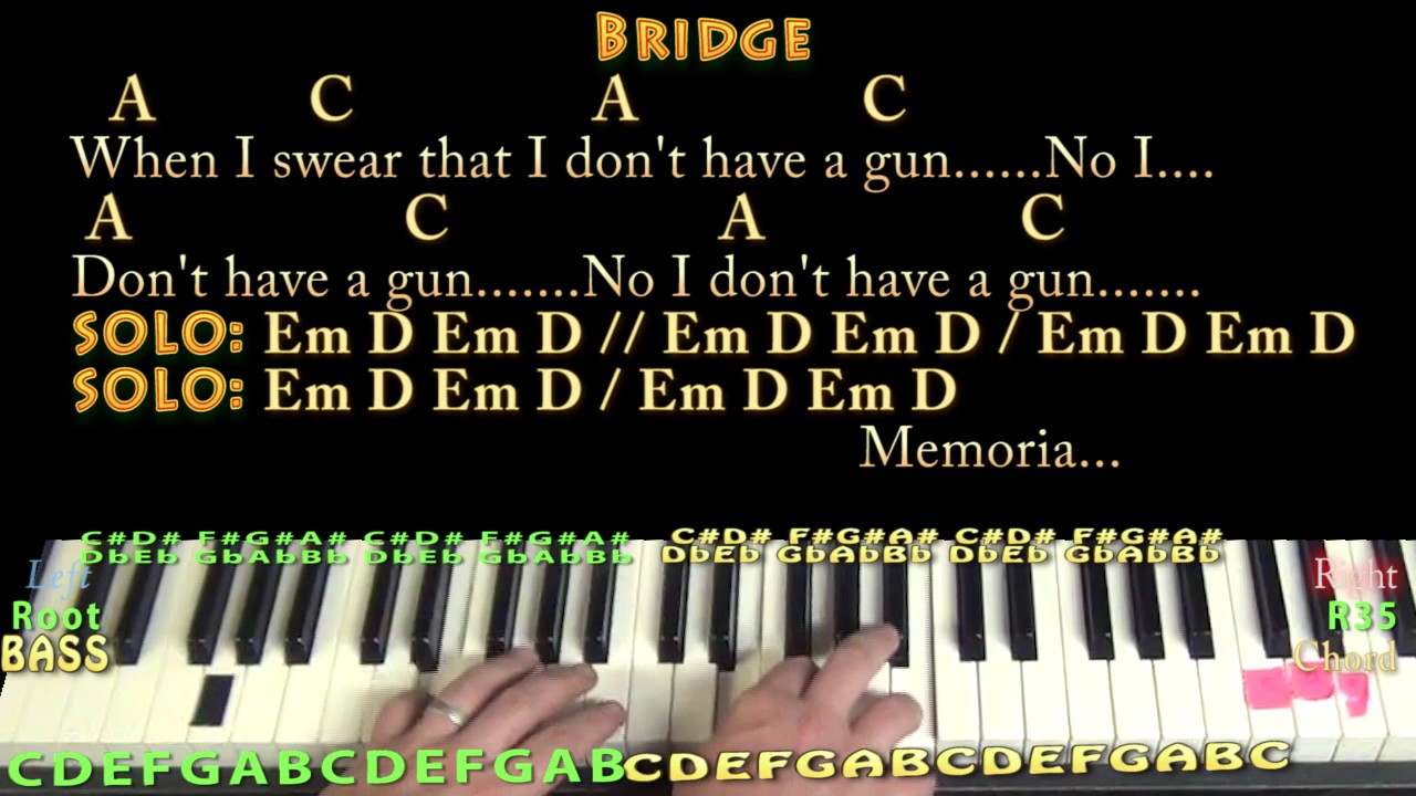 Come as you are nirvana piano jamtrack with chordslyrics youtube come as you are nirvana piano jamtrack with chordslyrics hexwebz Images