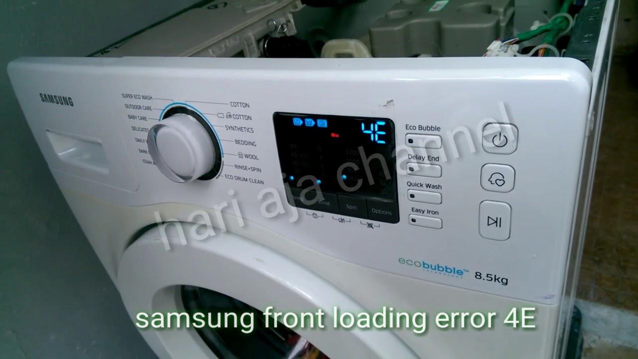Mesin Cuci Samsung Error 4e