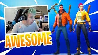 Ninja Reacts to *NEW* Logan Paul Maverick & Shade Skin - Fortnite Epic & Funny Moments