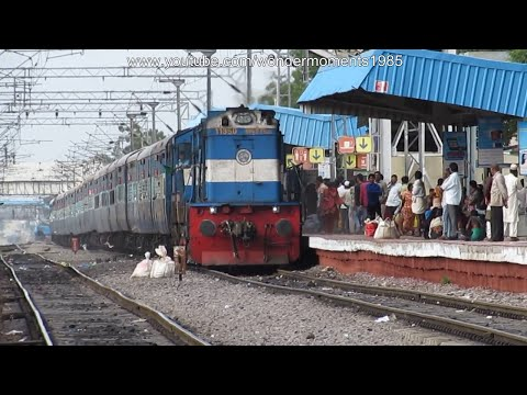 New Train : Kacheguda Nagercoil Express In Return Journey Caught at Falaknuma.