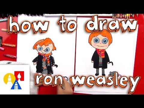 How To Draw A Cartoon Ron Weasley And Scabbers