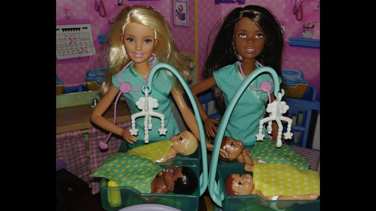Doctors Deliver Big Surprise Barbie Baby Doctor Set