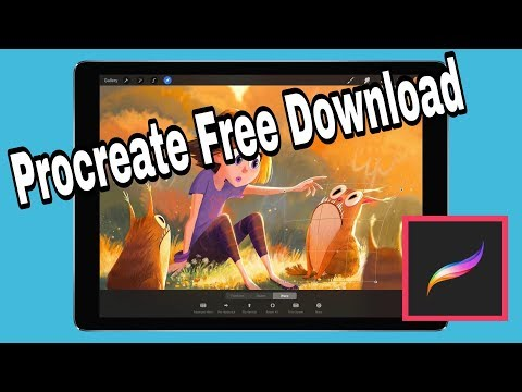 How to download Procreate ipad 2019 free - YouTube