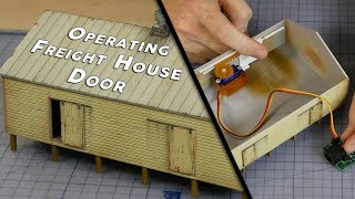 Build, Paint & Animate a Working Freight House - Model Railroad Scenery