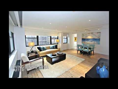 Home Staging: Manhattan - Sunny Two Bed Two Bath Co-op With Private Outdoor Space!!