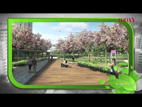 HDB fly-through of Tampines North development plan