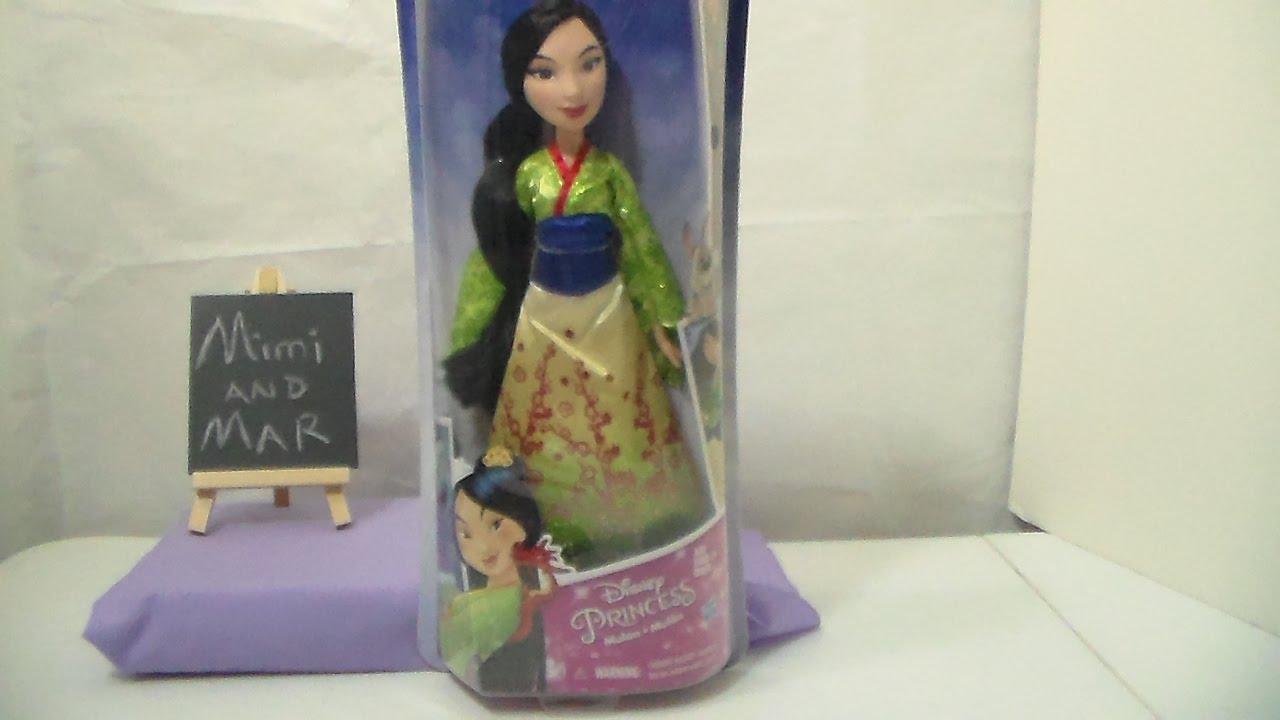 """Disney Princess Royal Shimmer 11/"""" Mulan Doll Action Figure New No Box"""