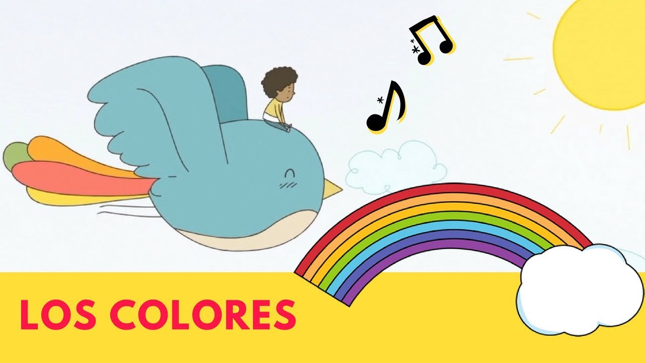 Los Colores - Bilingual song for kids - Learn colors in Spanish ...