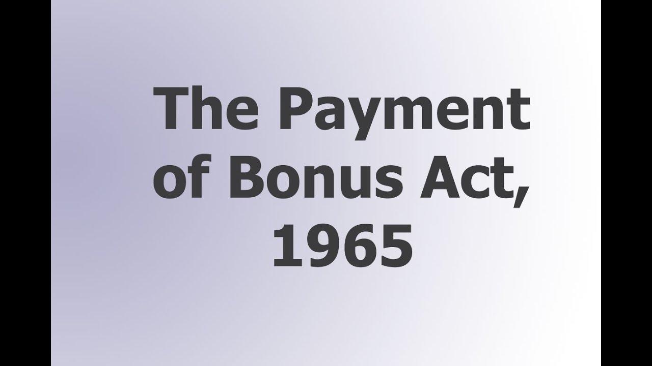 bonus act