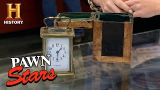 Pawn Stars: Stowell + Co French Brass and Glass Clock (Season 12) | History