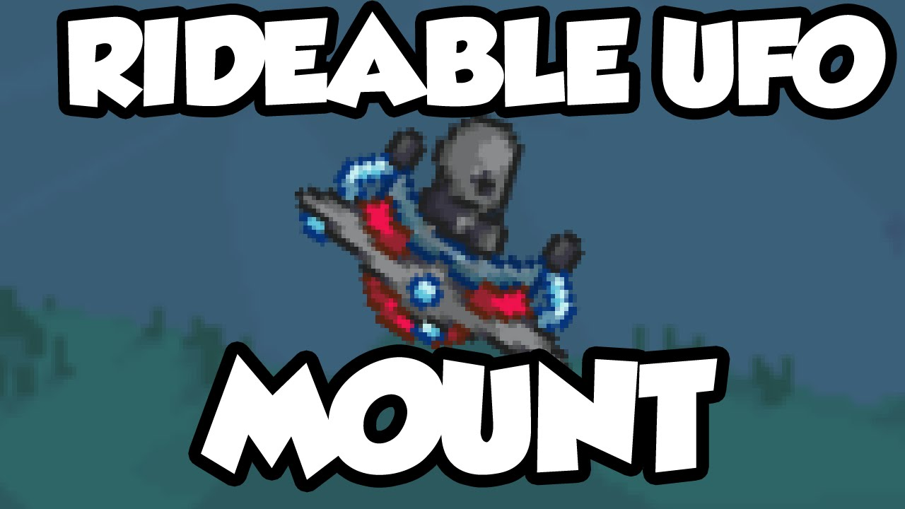 Terraria 1 3 Items The Cosmic Car Key Ride Able Ufo Mount From Martian Madness Youtube