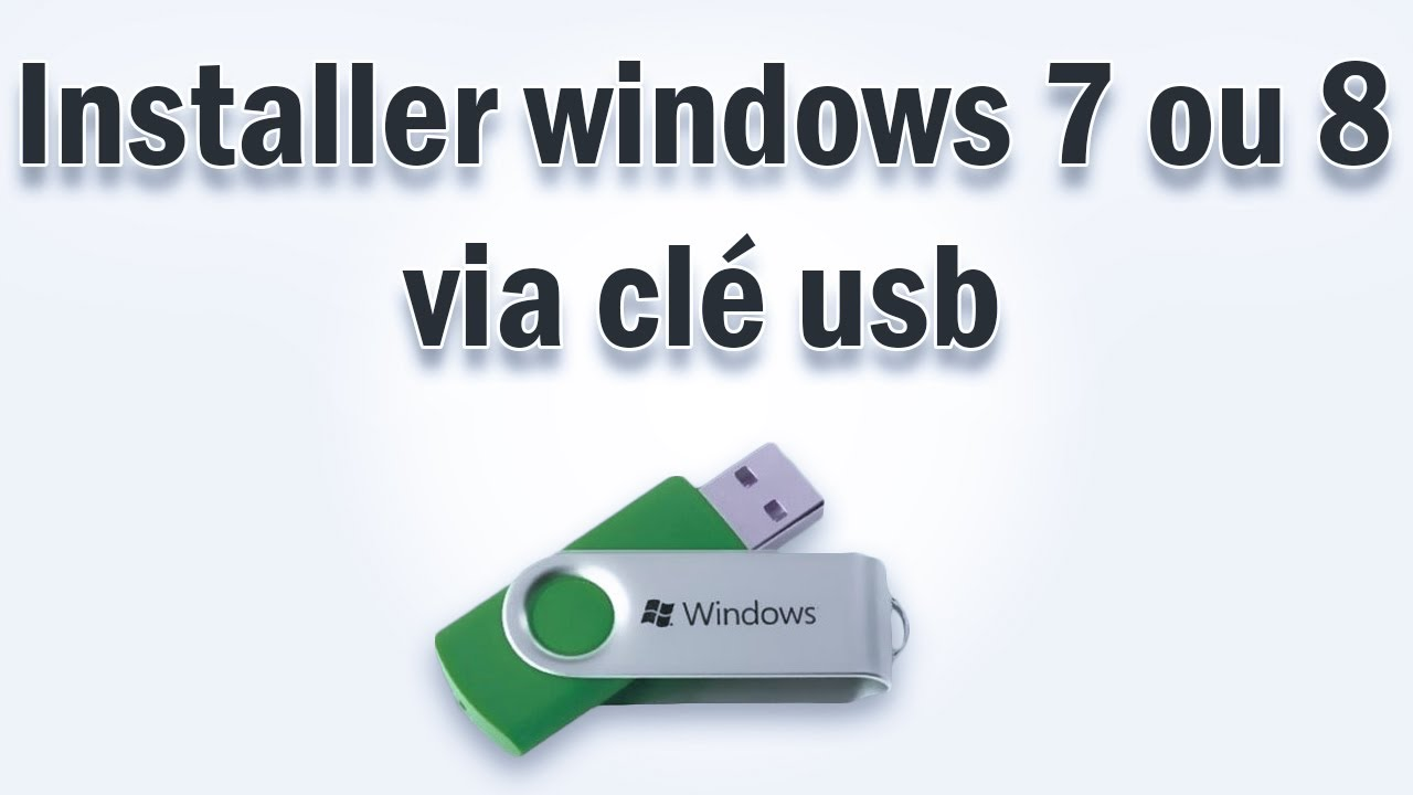 installer windows 7 ou 8 via cl usb youtube. Black Bedroom Furniture Sets. Home Design Ideas
