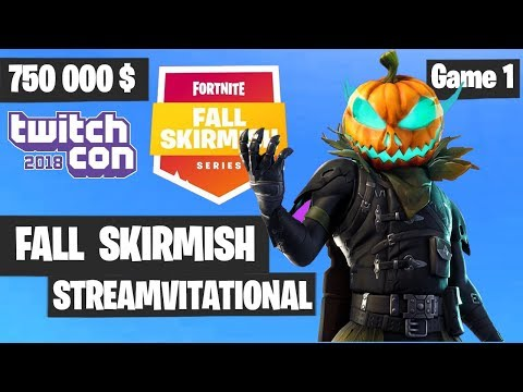 Fortnite Streamvitational Game 1 Highlights - Fall Skirmish Week 6 - Fortnite TwitchCon 2018