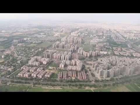 Aerial view of Dwarka Sub-City, IGI airport New Delhi - 2014