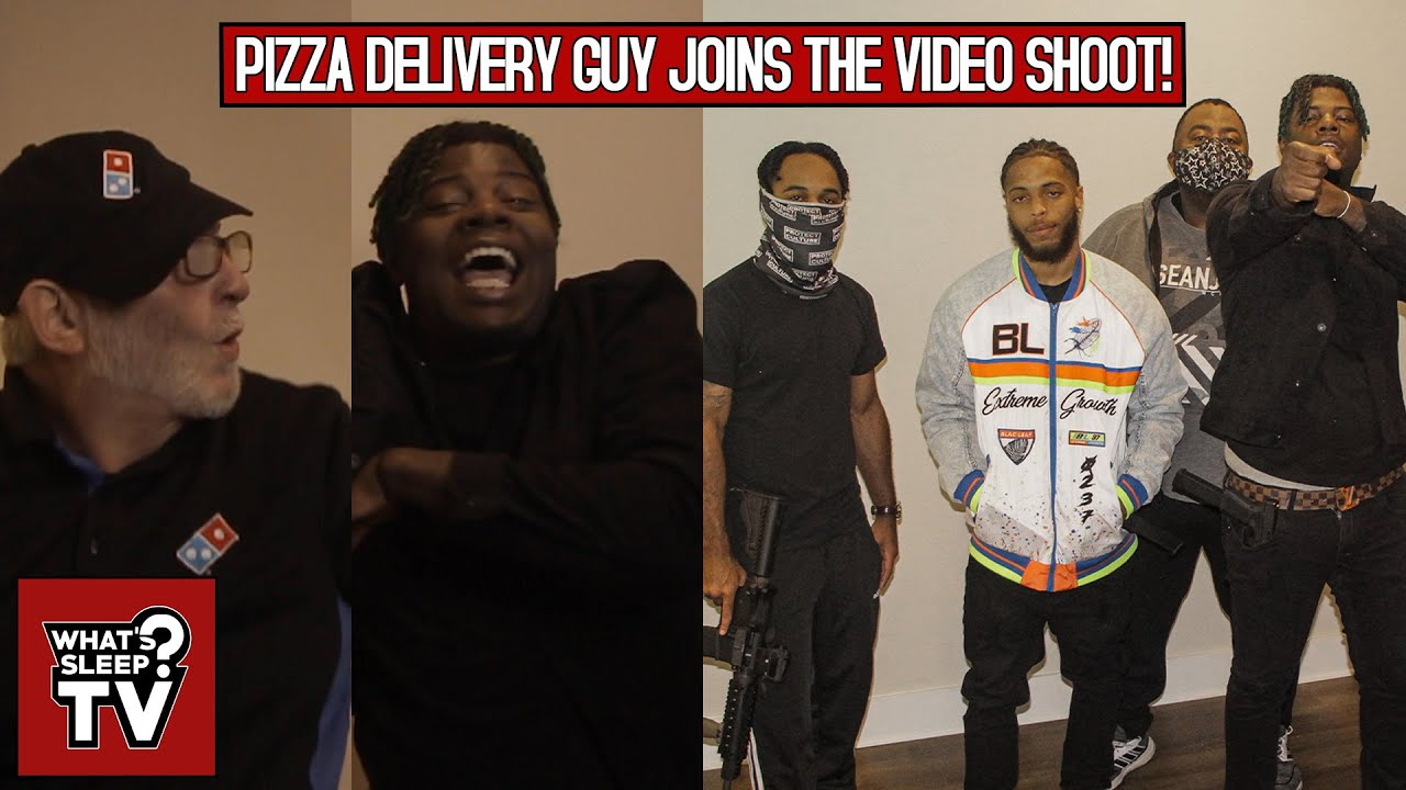 Pizza Delivery Guy Joins Kid Cavi's Music Video Shoot And He Turnt Up!