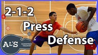 2-1-2 Press Basketball Defense