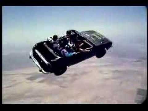 SKYDIVING IN A CAR ..