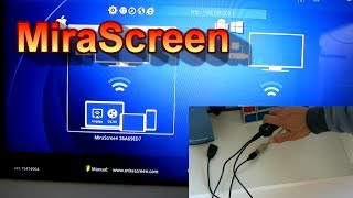miracast Dongle HDMI MiraScreen WiFi Display Receiver Unboxing & Testing