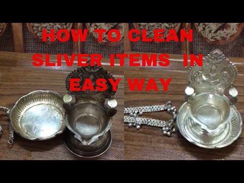How to clean silver itemsHow to clean silver items pooja things