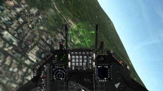 Falcon 4.0 BMS - Guns Only Dogfight (F16 vs. 2 SU-33