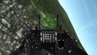 Falcon 4.0 BMS - Guns Only Dogfight (F16 vs. 2 SU-33