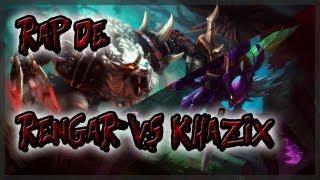 Repeat youtube video RAP DE CAMPEONES ||| RENGAR VS KHA'ZIX ||| SHARKNESS (con Zarcort)