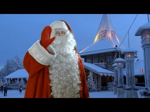 Santa Claus Village in Lapland: home of Father Christmas Rovaniemi Finland video message to children