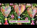 Boho Heart Ornaments