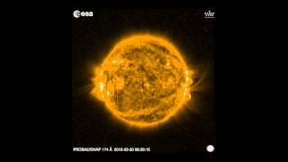 Europe's solar eclipse seen from Proba-2