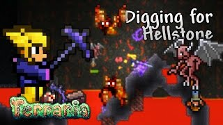 Terraria Let's Play - Digging for Hellstone [22]