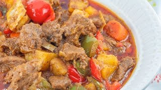 Kalderetang Kambing  (goat Stew)