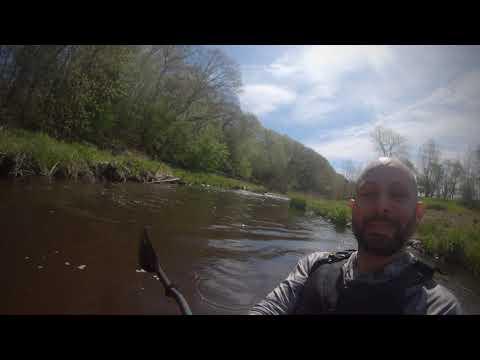 Kayaking The Portage Creek, Kalamazoo Mi.