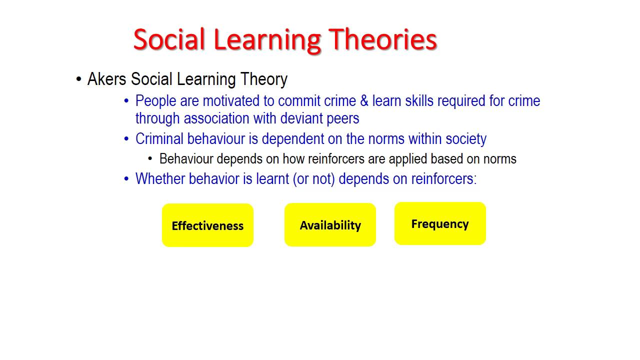 lecture 4 theories of crime learning  u0026 situational factors