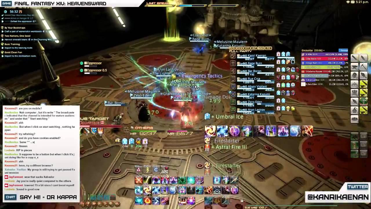 Final Fantasy Xiv Alexander Gordias Savage Floor 1