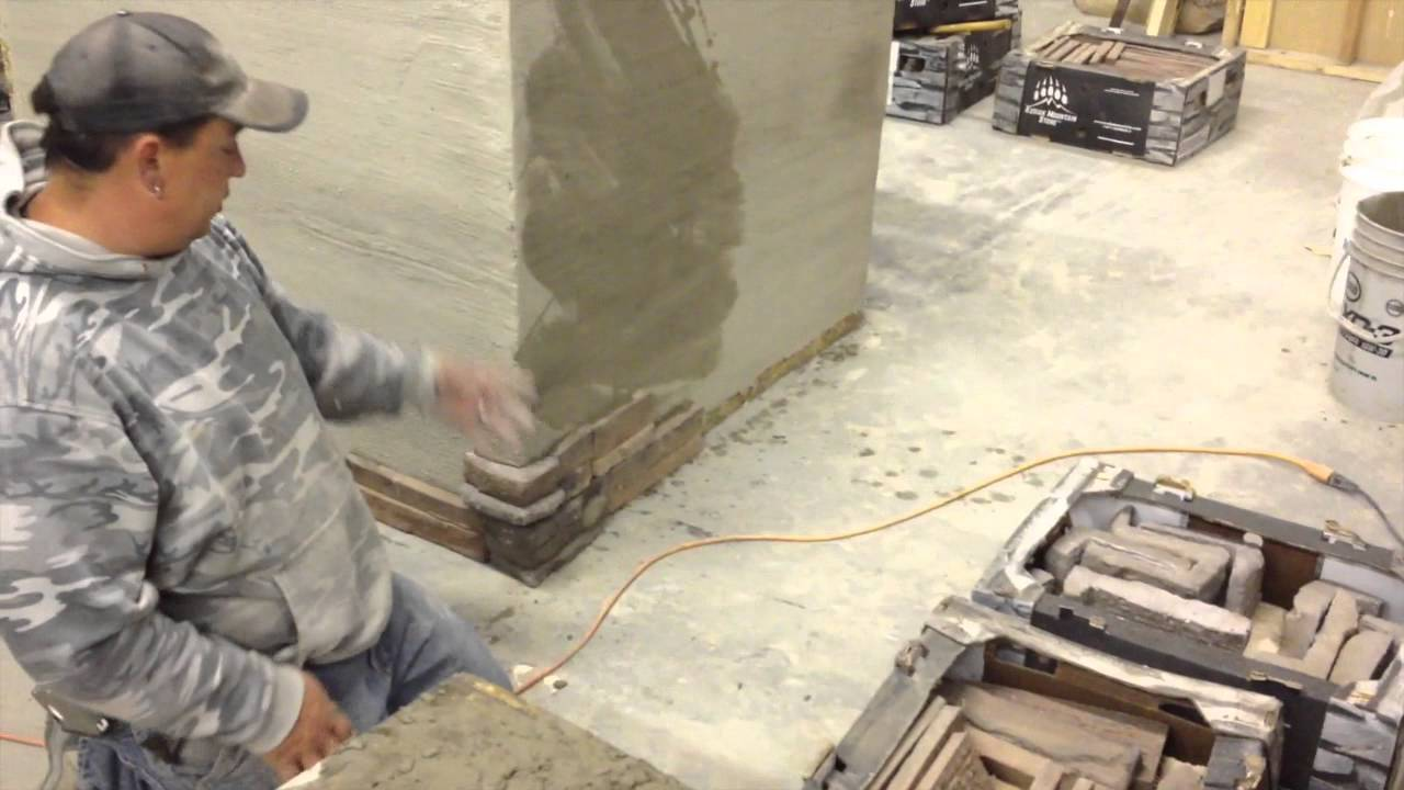 This video is about installing Kodiak Mountain Stone manufactured stone