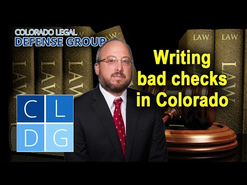 Check fraud laws in Colorado – CRS 18-5-205