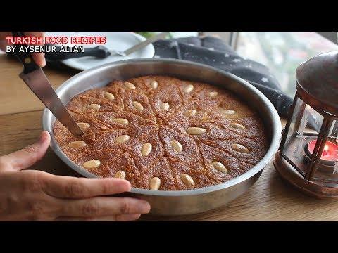 Turkish Sambali / Revani (Basbousa) Dessert With Semolina (No Egg, Oil, Flour)
