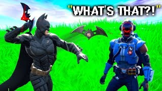 I Trolled Him With NEW Batman Batarang.. (Fortnite)