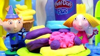 Jak powstają ciasteczka? • Play Doh & Małe Królestwo Bena i Holly • bajka po polsku