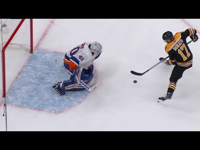 Isles, Bruins face off in shootout