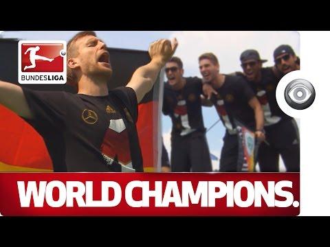 The World Cup Winners Return - Germany Celebrate in Berlin