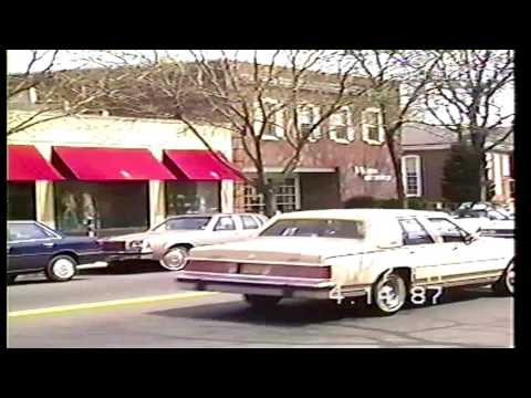 Video from the past - downtown Westfield, NJ 1987 (part I)