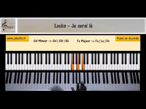 Locko - Je serai là [JDS Piano Tutorial] Niveau 1